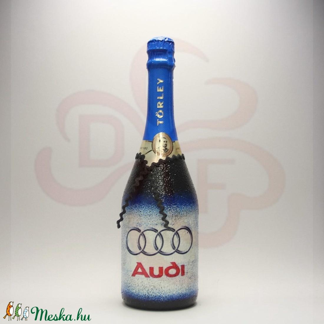 Audi logós pezsgő ; Audi rajongóknak - Meska.hu