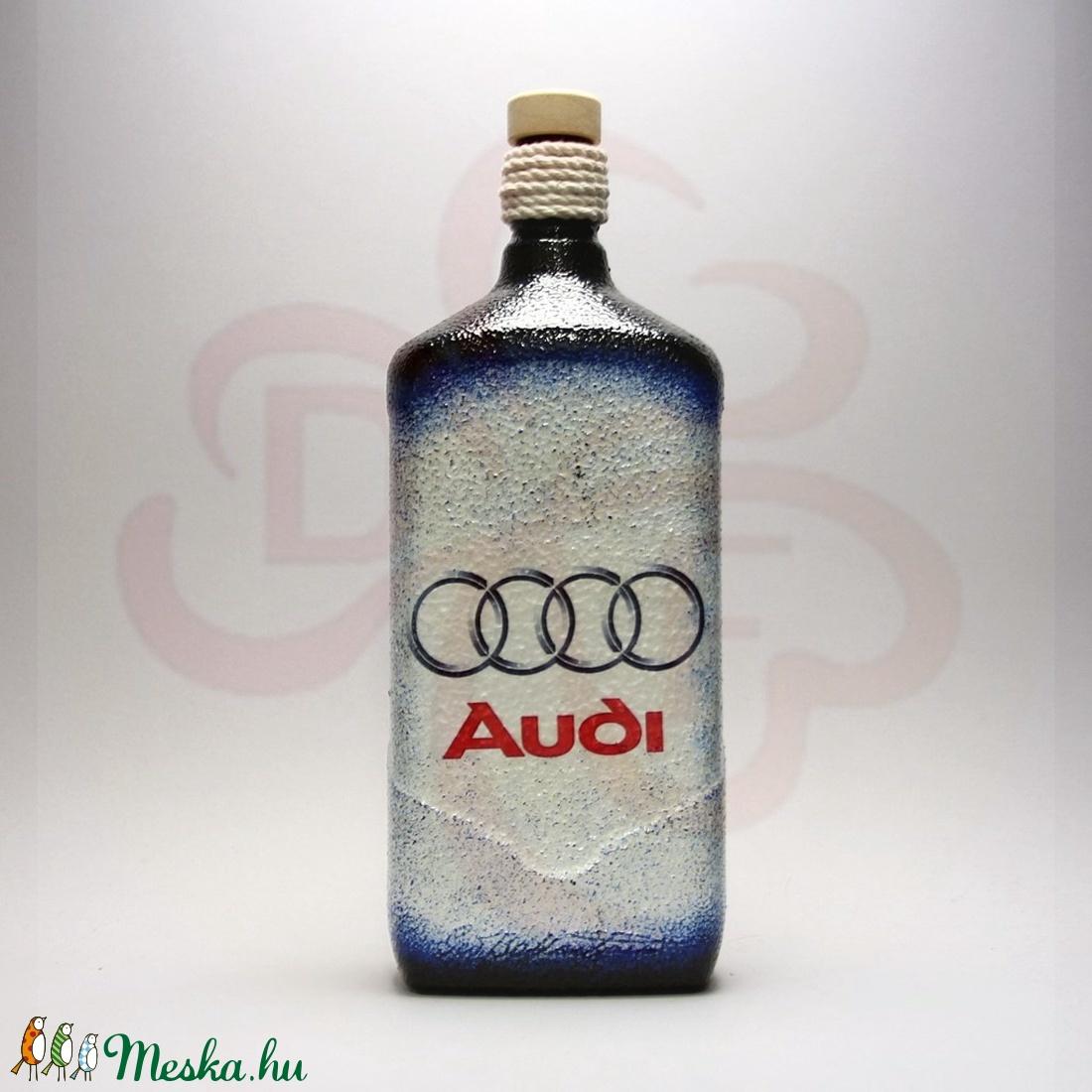 Audi pálinkás üveg audi rajongóknak - Meska.hu
