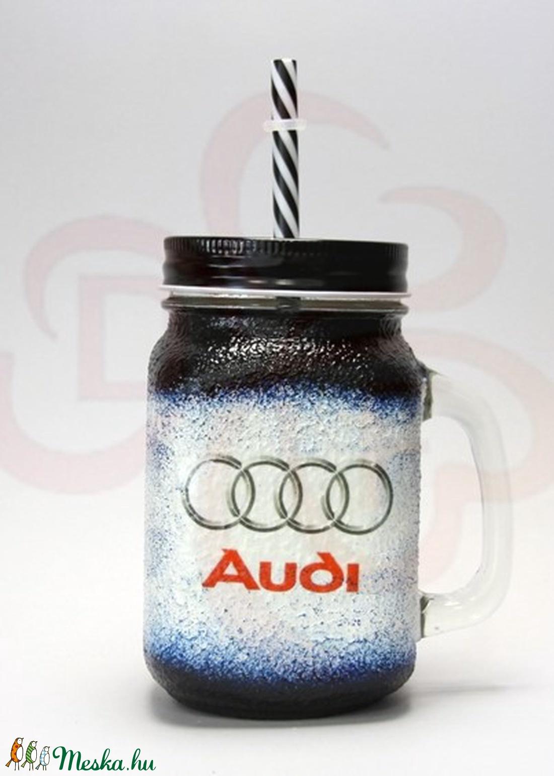 Audi üdítős pohár audi rajongóknak - Meska.hu
