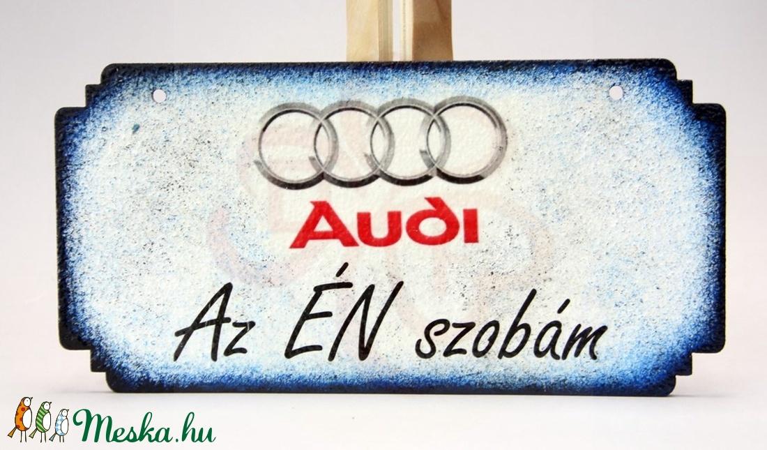 Audi ajtódísz audi rajongó fiúknak - Meska.hu