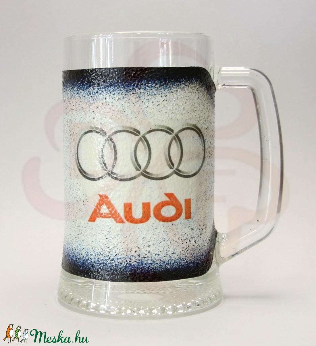 Audi söröskorsó ; Audi rajongóknak - otthon & lakás - konyhafelszerelés - pohár - Meska.hu