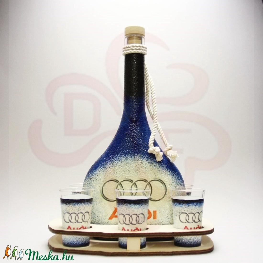 Audi italszett ; Audi autó rajongóknak - otthon & lakás - konyhafelszerelés - pohár - Meska.hu