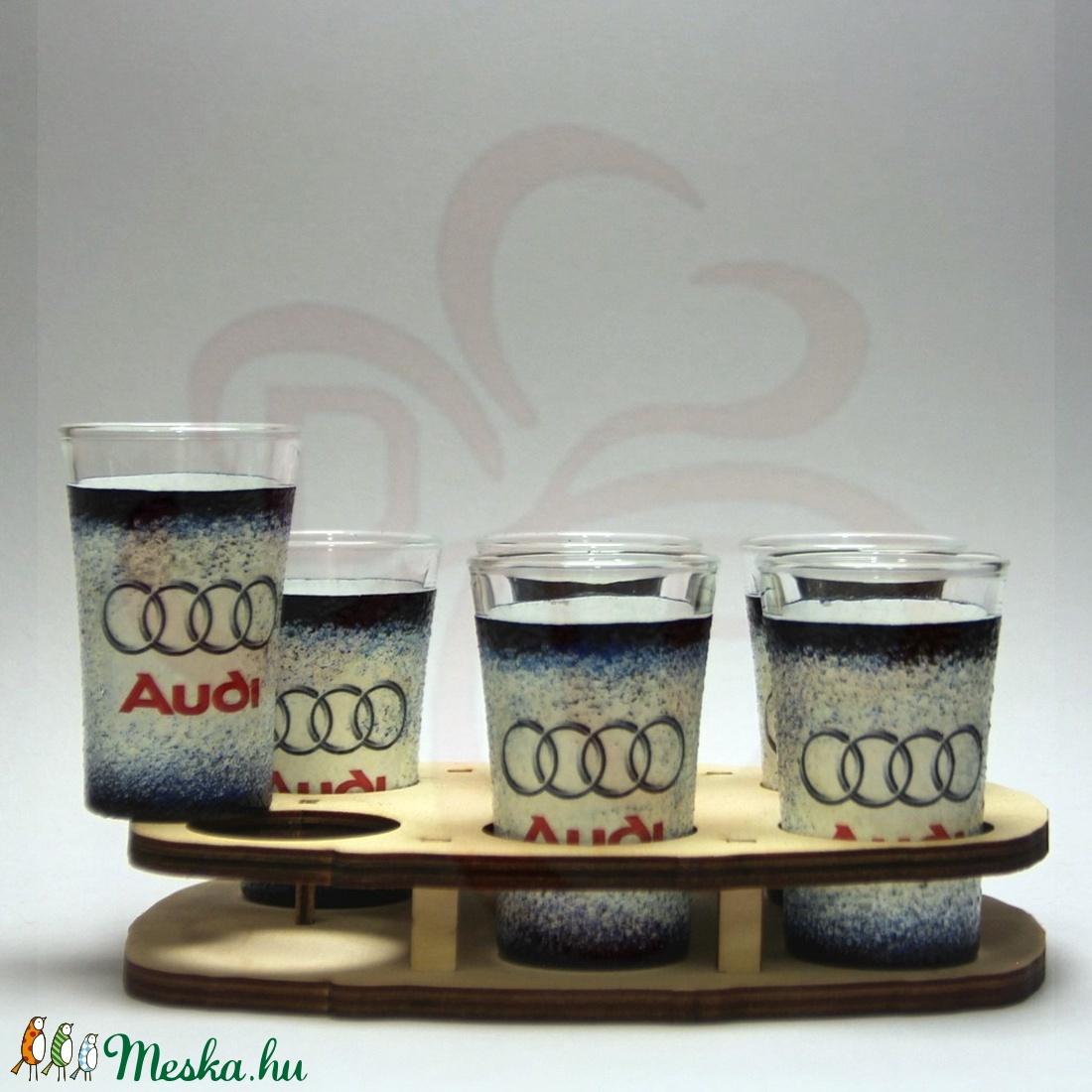 Audi pohár készlet ; Audi rajongóknak - Meska.hu