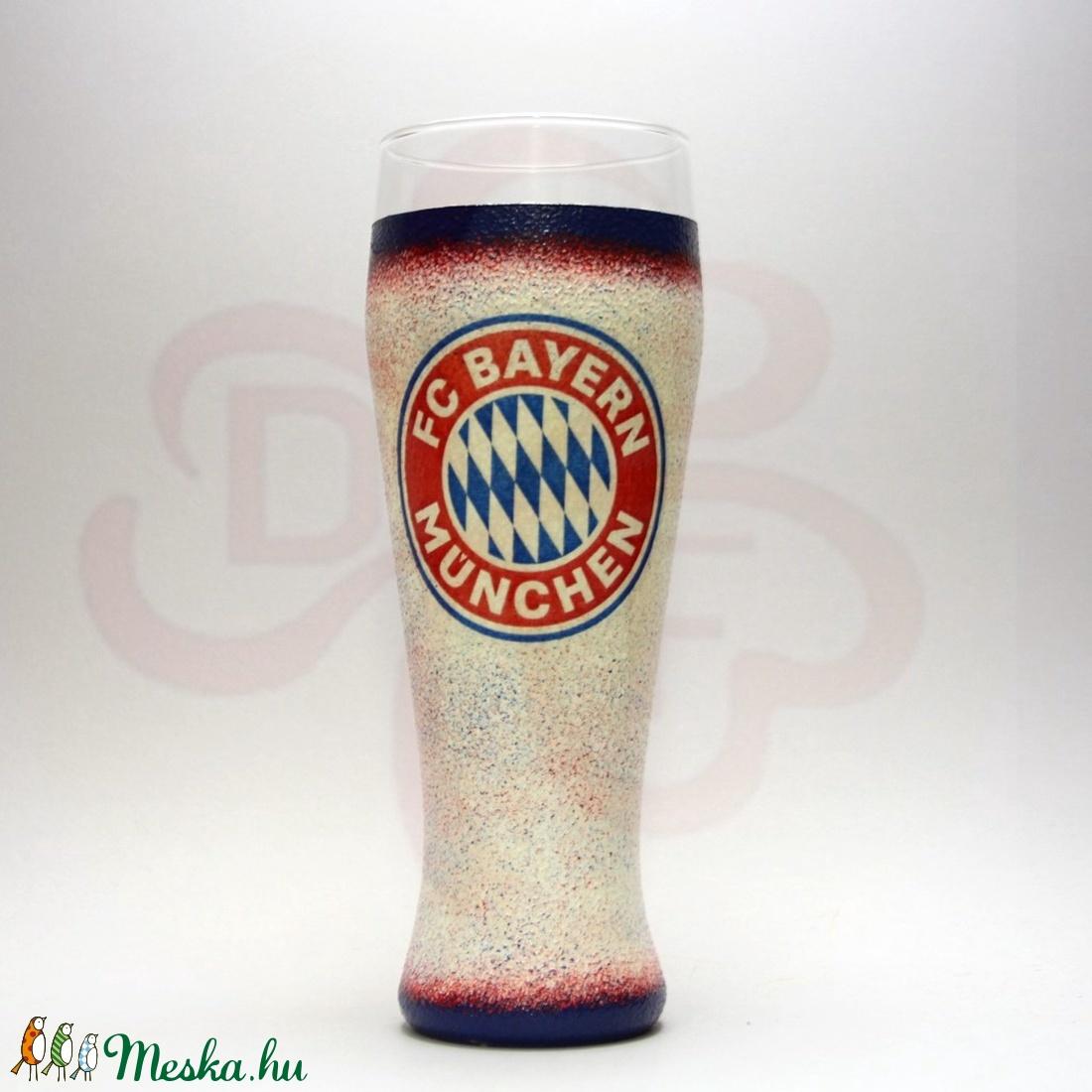 BAYERN MÜNCHEN sörös pohár ; foci szurkolóknak - otthon & lakás - konyhafelszerelés - pohár - Meska.hu