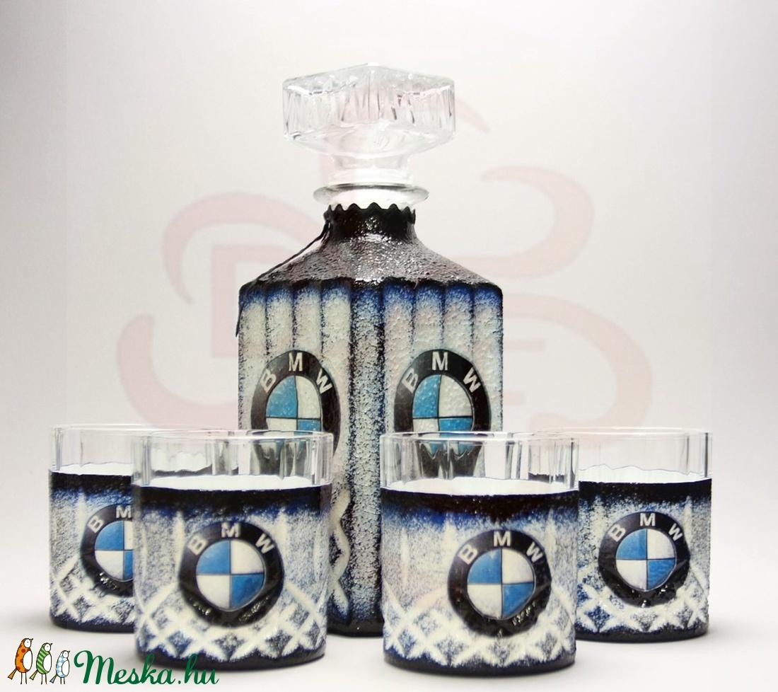 BMW whiskys készlet ; BMW kedvelő férfiaknak - otthon & lakás - konyhafelszerelés - pohár - Meska.hu