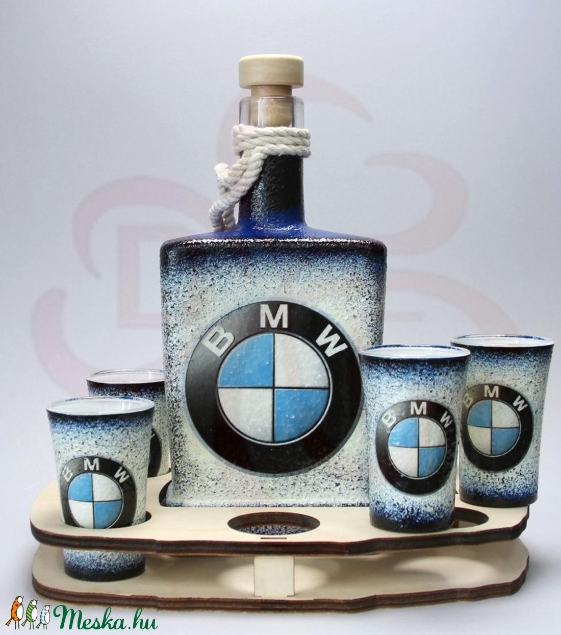 BMW pálinkás készlet ; Saját BMW autód fotójával is!  (decorfantasy) - Meska.hu