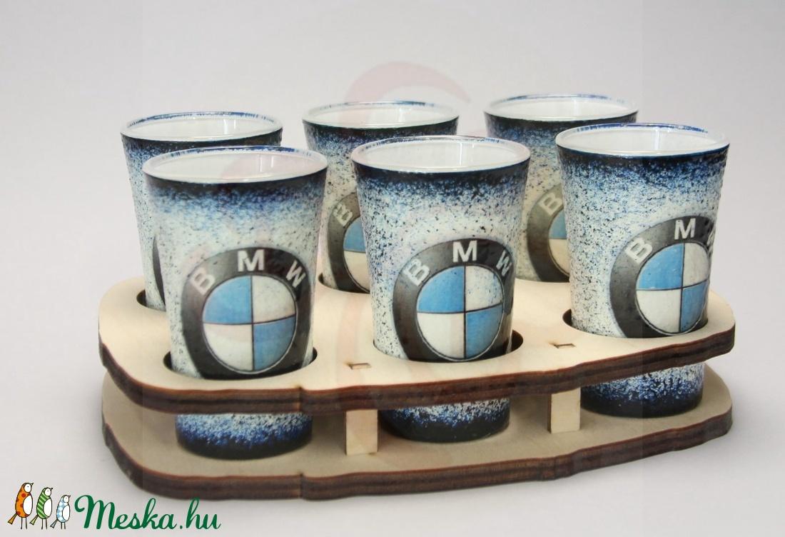 BMW pohárszett ; BMW rajongóknak - Meska.hu