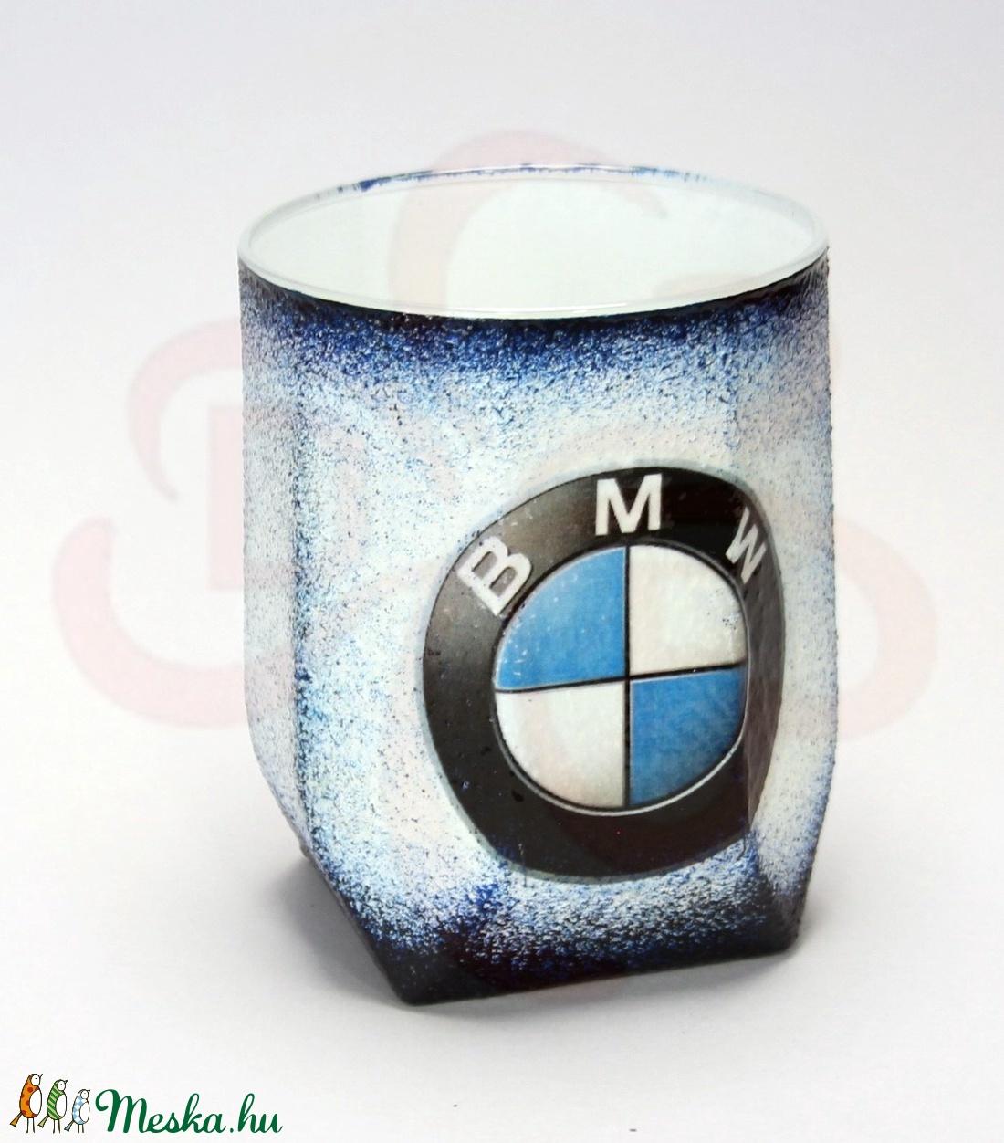 BMW whiskys pohár ; Saját BMW autód fotójával is!  - Meska.hu