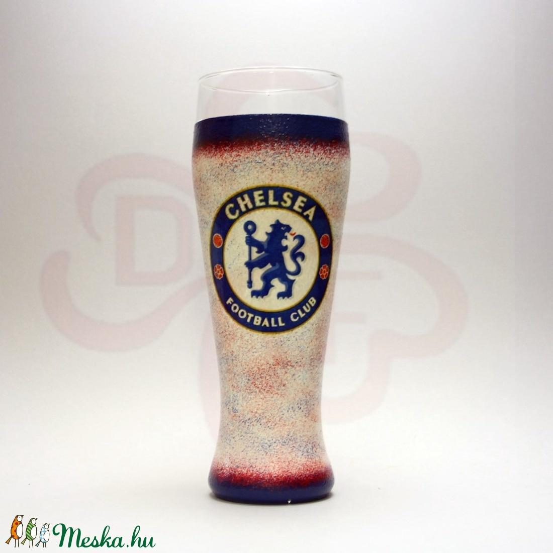 Chelsea FC sörös pohár ; Chelsea Szurkolói ajándék - Meska.hu