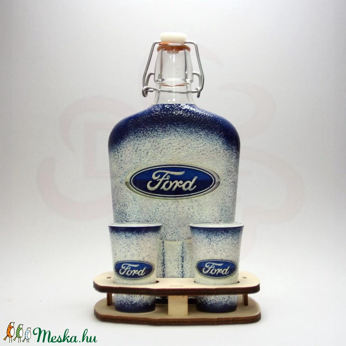 FORD márkás pálinkás készlet ; Ford rajongóknak - Meska.hu