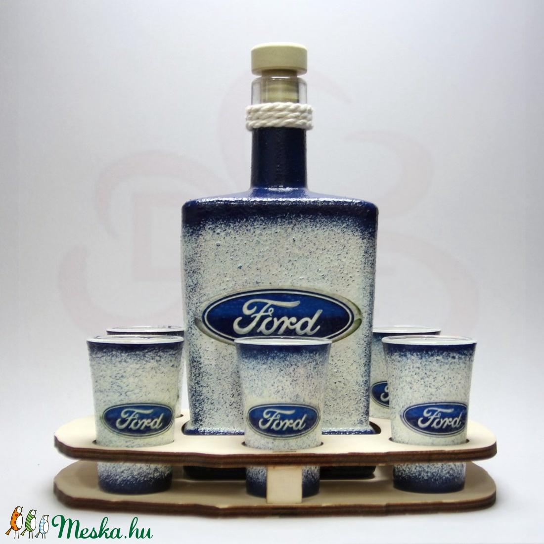 FORD pálinkás szett ; Saját Ford autó fotóval is!  - Meska.hu