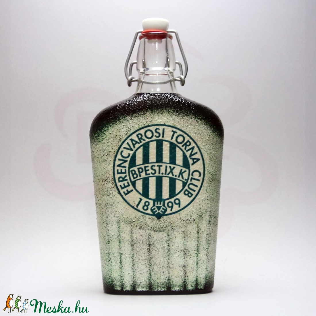 FTC pálinkás csatos üveg ; FTC futball szurkolóknak - otthon & lakás - konyhafelszerelés - üveg & kancsó - Meska.hu