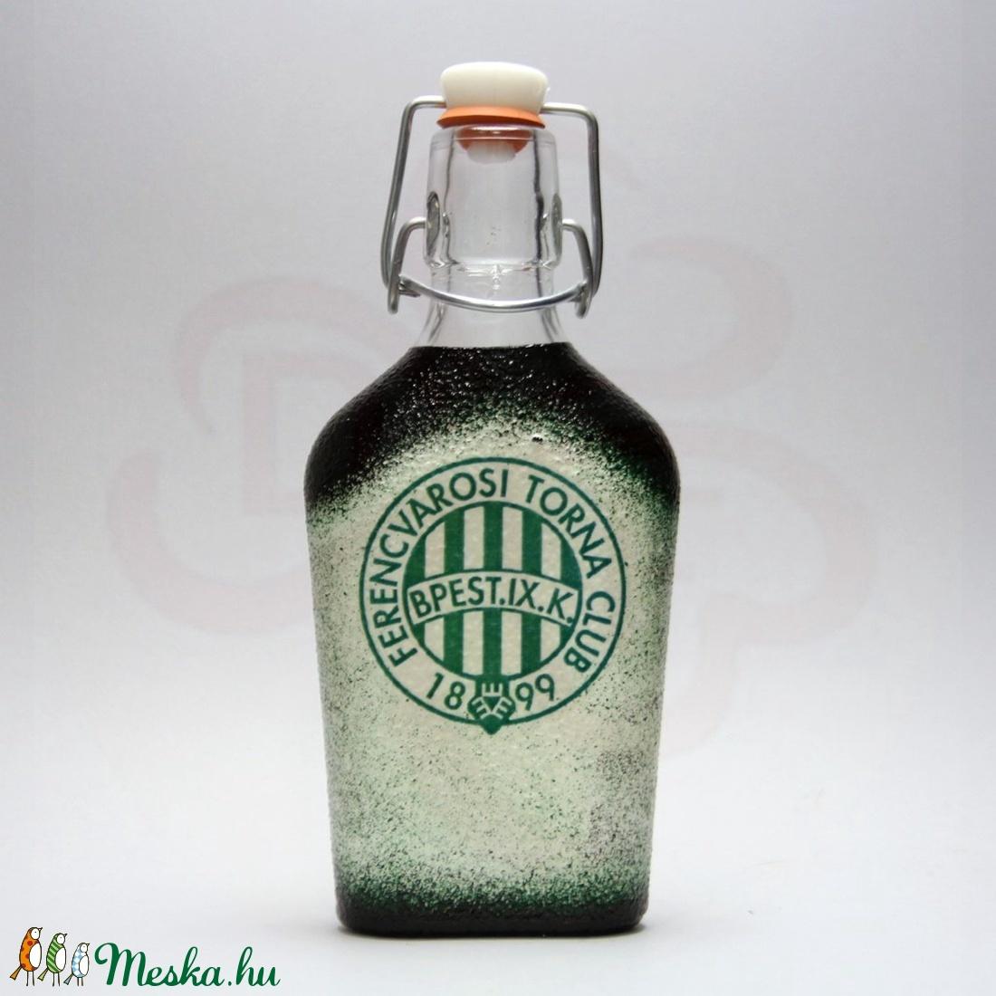 FTC pálinkás csatos üveg ; FTC foci szurkolóknak (decorfantasy) - Meska.hu