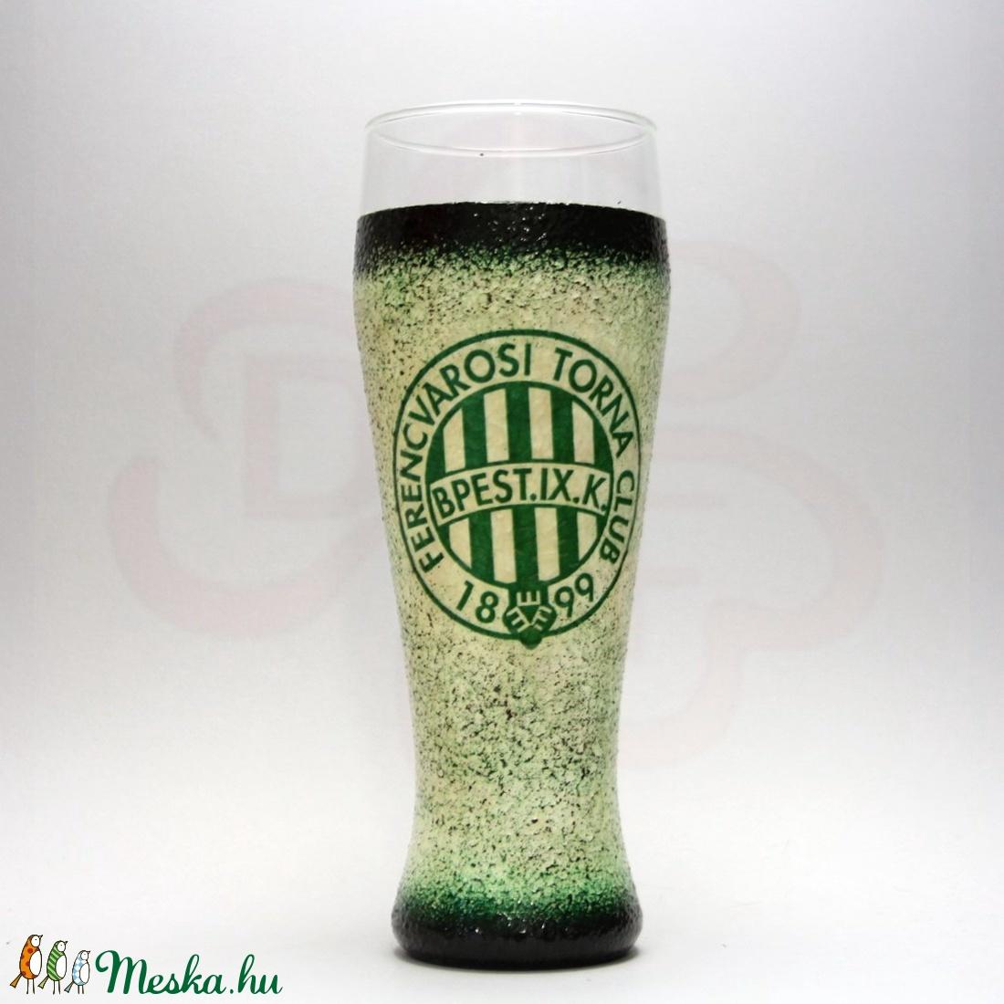 FTC sörös pohár ; FTC foci szurkolóknak - Meska.hu