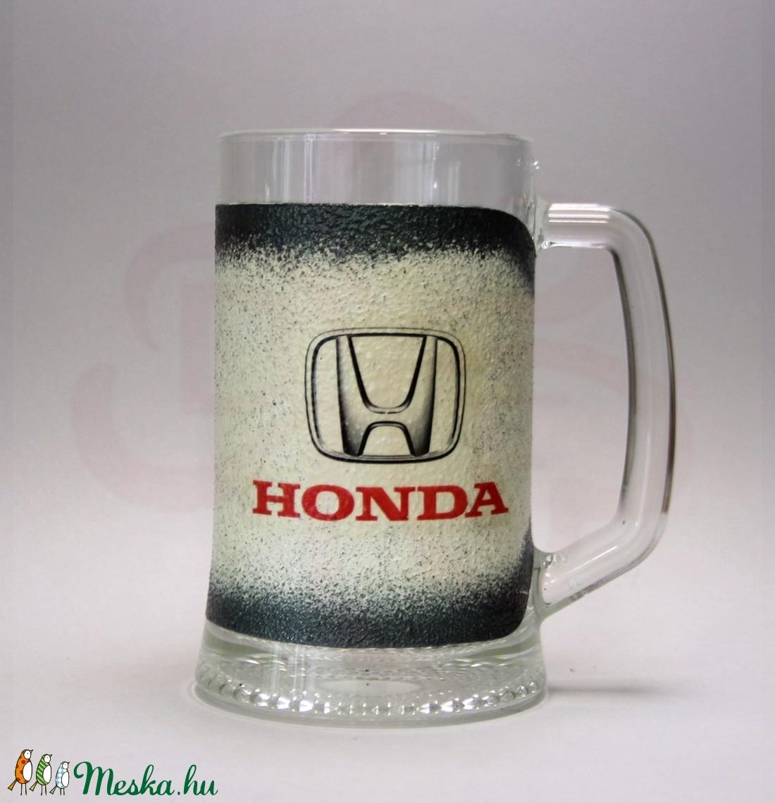 HONDA sörös korsó ; Saját Honda autód fotójával is elkészítjük ! - Meska.hu