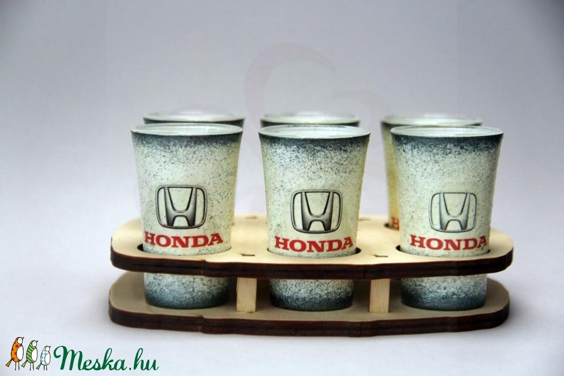 HONDA rövid italos pohár ;  A saját Honda autód fotójával is elkészítjük ! (decorfantasy) - Meska.hu
