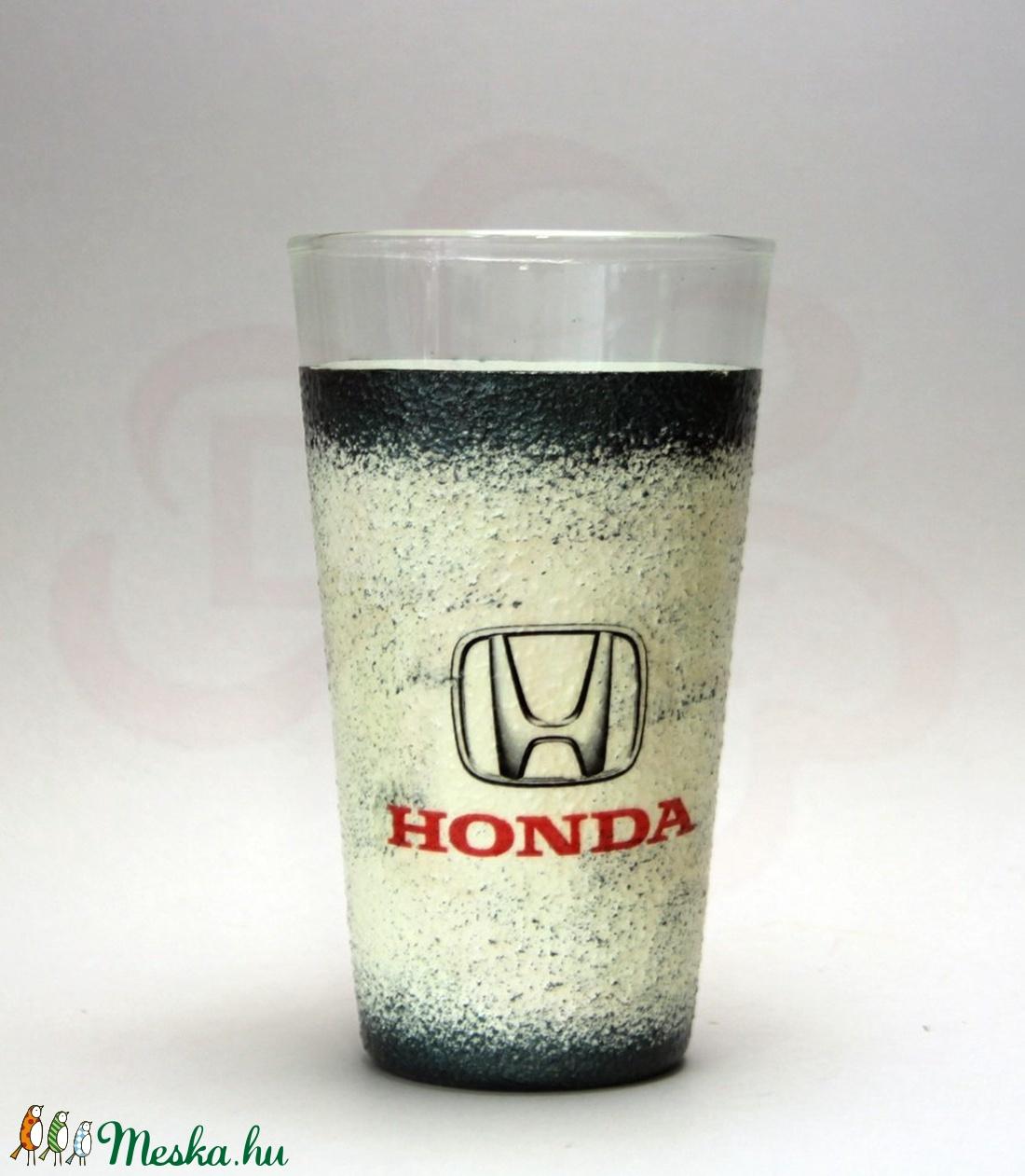 HONDA vizes pohár ; Saját Honda autód fotójával is elkészítjük ! - Meska.hu