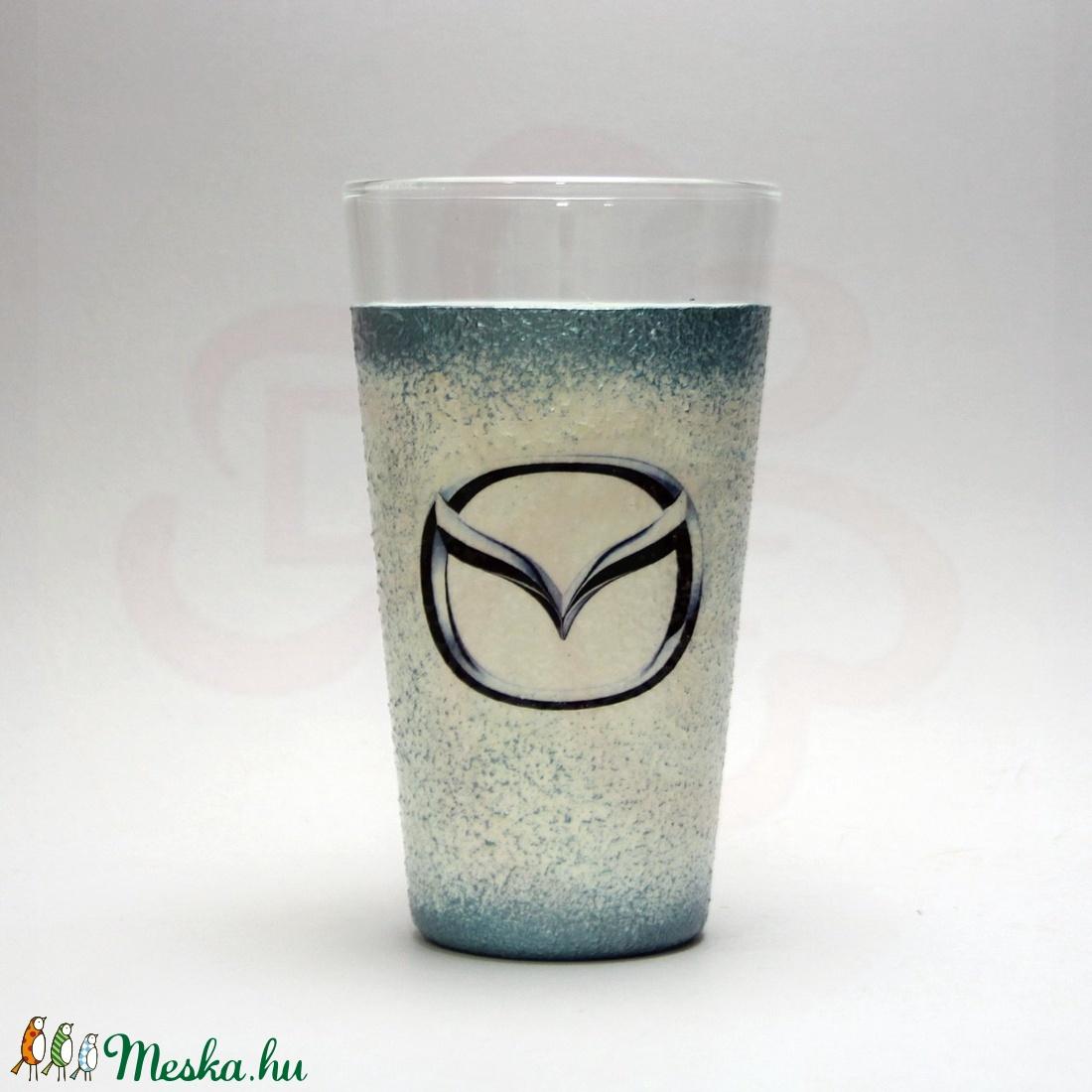 MAZDA vizes pohár ; Mazda autó rajongóknak - Meska.hu