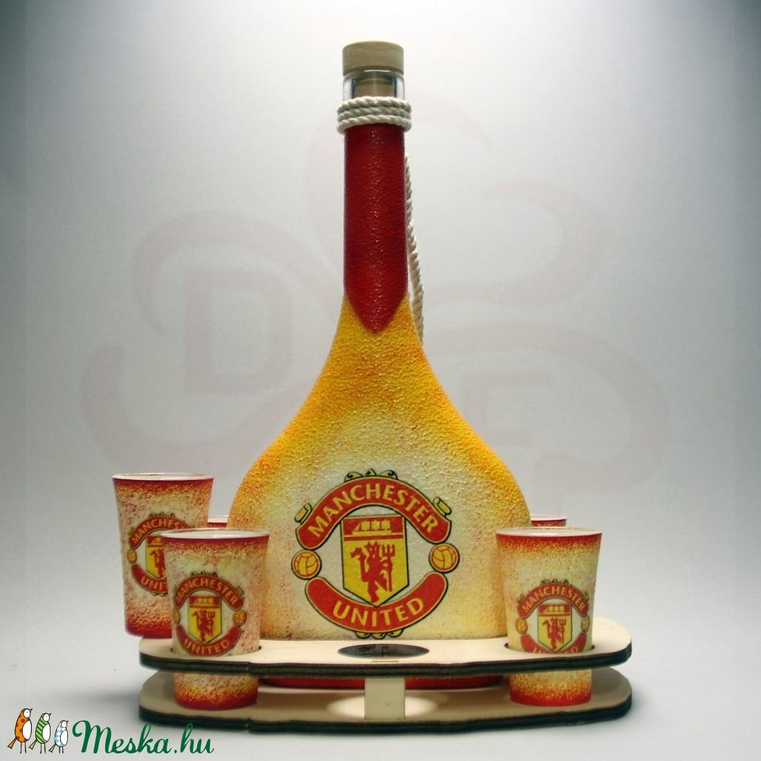 Manchester United italos szett ; futball szurkolóknak, születésnapra, névnapra, karácsonyra - otthon & lakás - konyhafelszerelés - pohár - Meska.hu