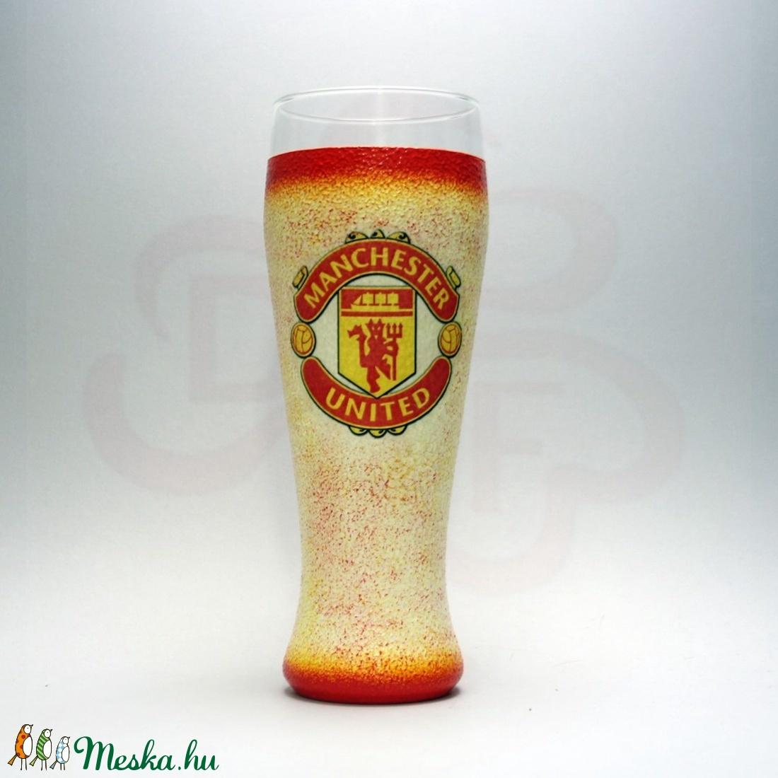 Manchester United sörös pohár; futball szurkolóknak - Meska.hu
