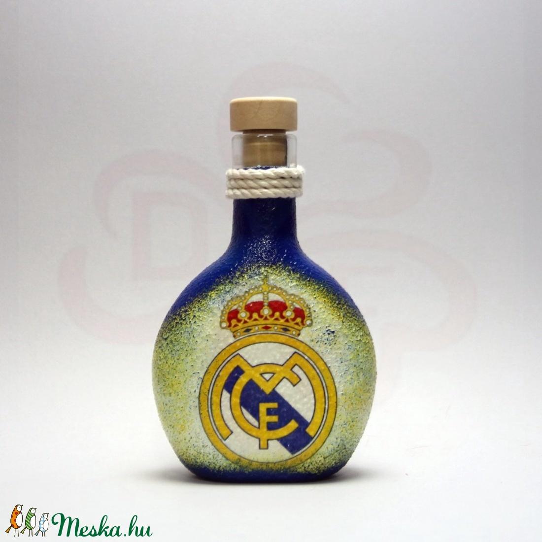Real Madrid pálinkás flaska ; foci szurkoló férfiaknak - Meska.hu