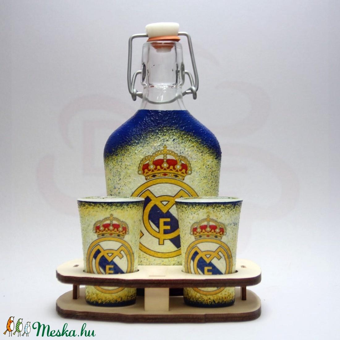 Real Madrid pálinkás kínáló ; Real futball szurkolóknak - Meska.hu