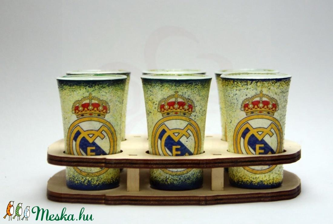 Real Madrid pohár készlet; Real futball szurkoló férjnek, barátnak (decorfantasy) - Meska.hu