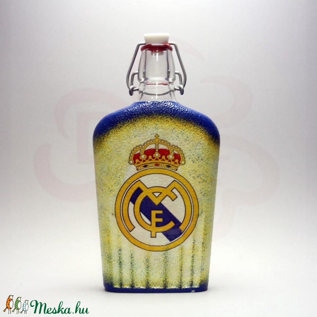 Real Madrid pálinkás csatosüveg ; Real foci szurkoló férfiaknak - Meska.hu