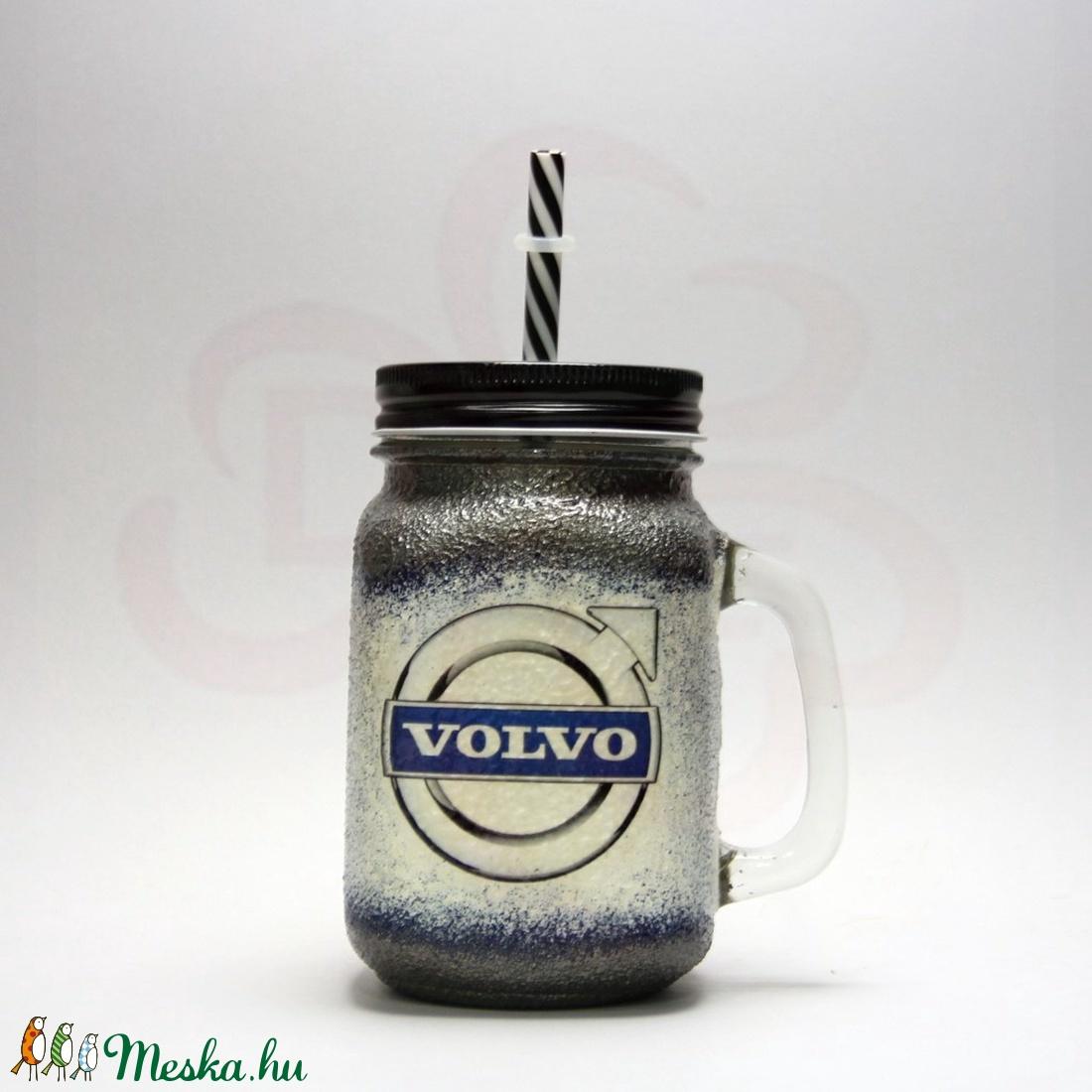 VOLVO üdítős pohár ; Volvo autód fényképével is! (decorfantasy) - Meska.hu