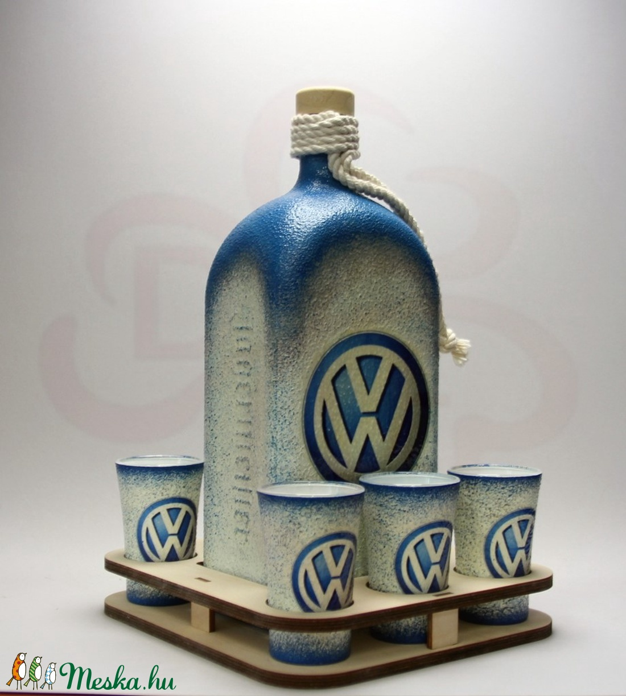 VOLKSWAGEN pálinkás szett ; Volkswagen autód fényképével is! (decorfantasy) - Meska.hu
