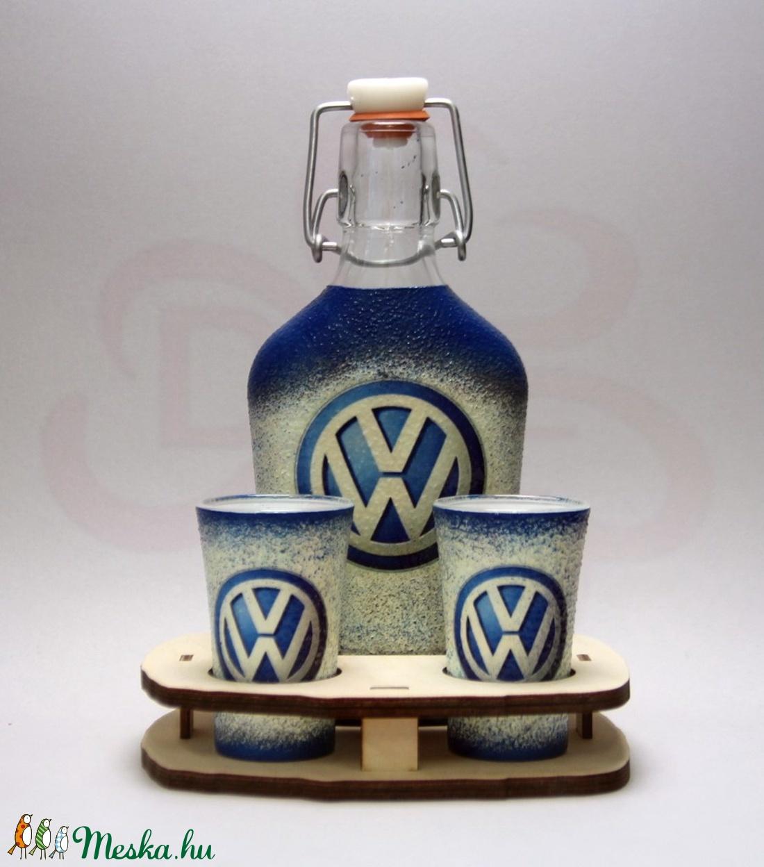 VOLKSWAGEN pálinkás szett ; Volkswagen autód fényképével is! - Meska.hu