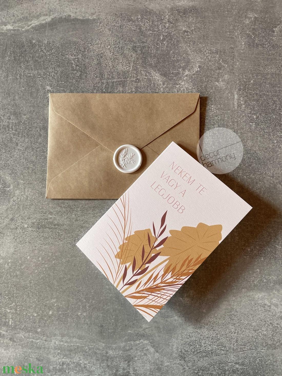 Képeslap borítékkal és viaszpecséttel  K018 - otthon & lakás - papír írószer - képeslap & levélpapír - Meska.hu
