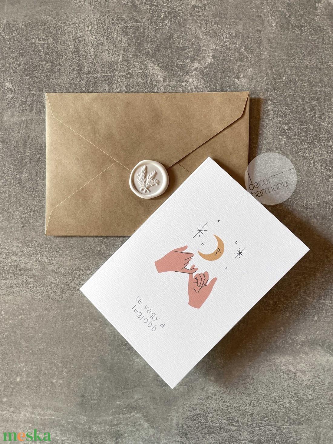 Képeslap borítékkal és viaszpecséttel  K020 - otthon & lakás - papír írószer - képeslap & levélpapír - Meska.hu