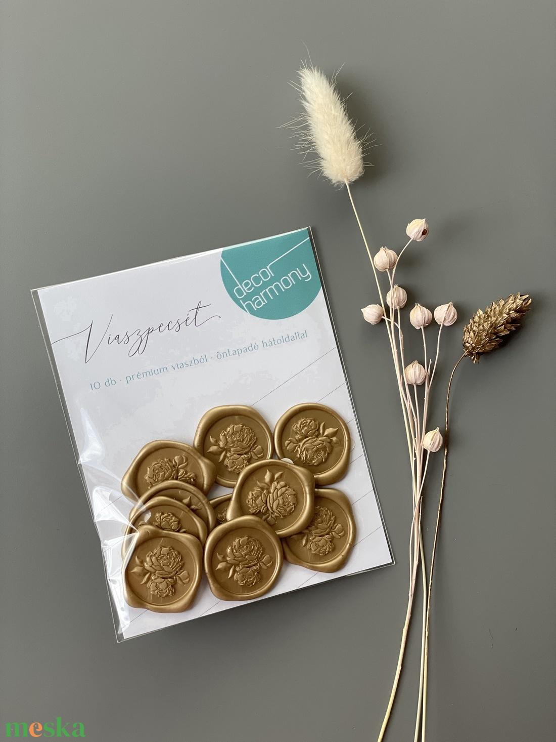 Viaszpecsét csomag - Arany bazsarózsa V007 - esküvő - meghívó & kártya - meghívó - Meska.hu