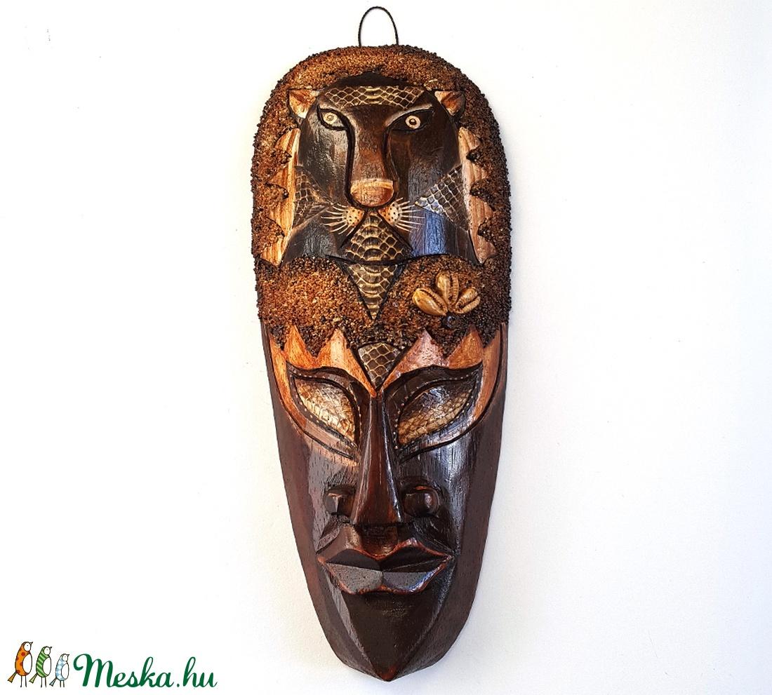 Afrikai maszk egzotikus bőrrel M-5 (Denera) - Meska.hu