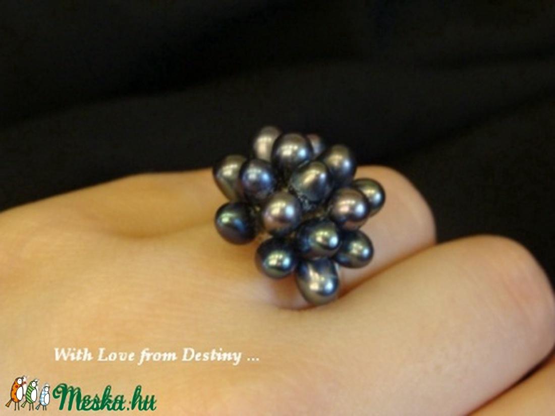 Sün - gyöngy - ékszer - gyűrű - statement gyűrű - Meska.hu