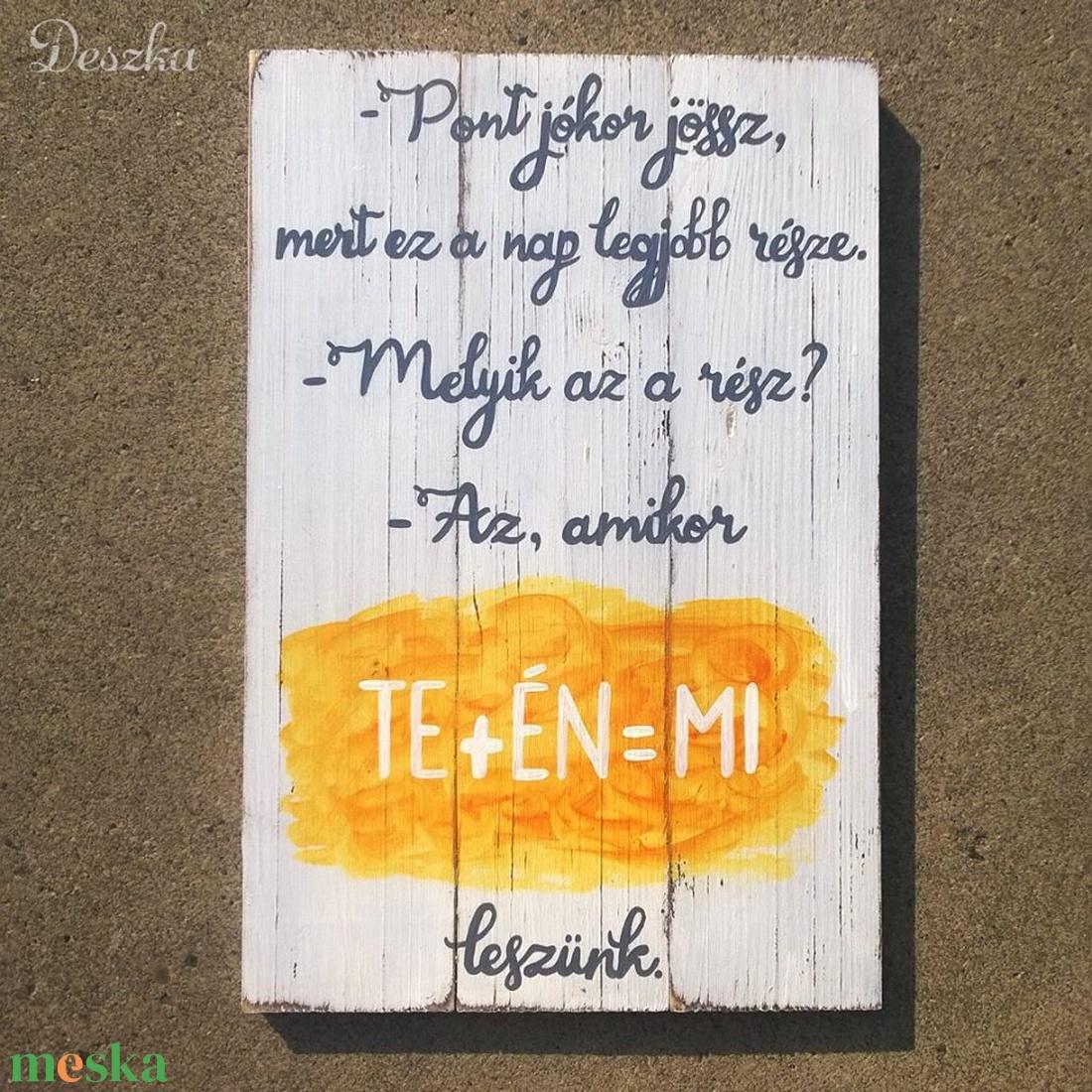 Kézzel festett, antikolt deszkakép esküvőre (Deszka) - Meska.hu