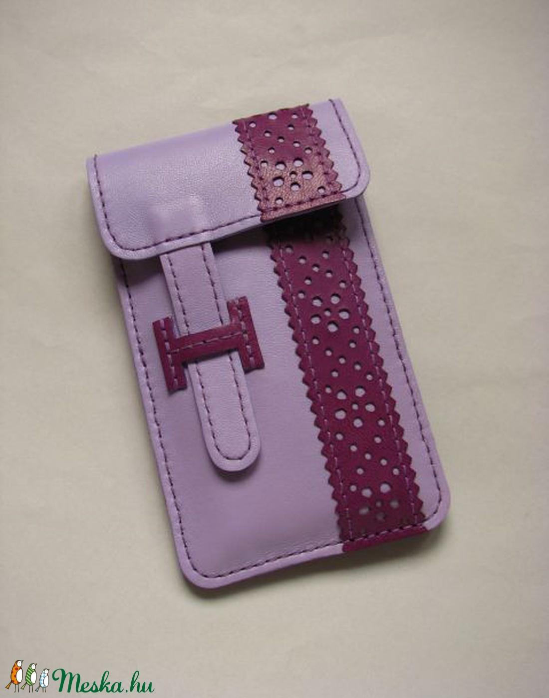 Levendula - szeder csipkepántos és zsebes bőr telefontok 7755ad759e