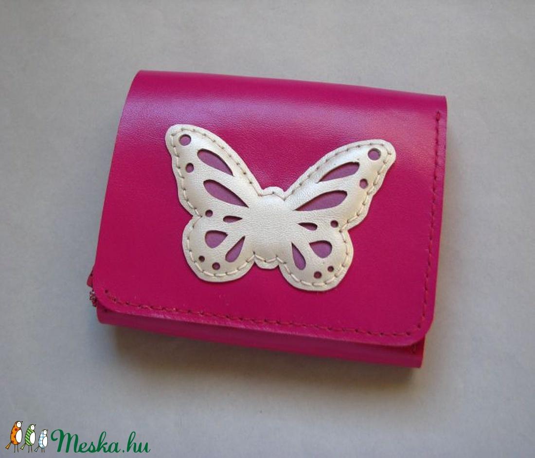 Pink pillangó mintás bőr pénztárca (Dettymoon) - Meska.hu 88b66b3433