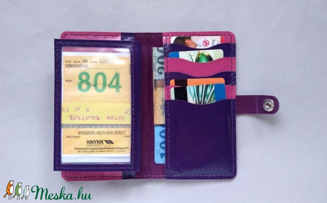 Lila flamingó mintás kártyatartós bőr pénztárca 72ce93f890