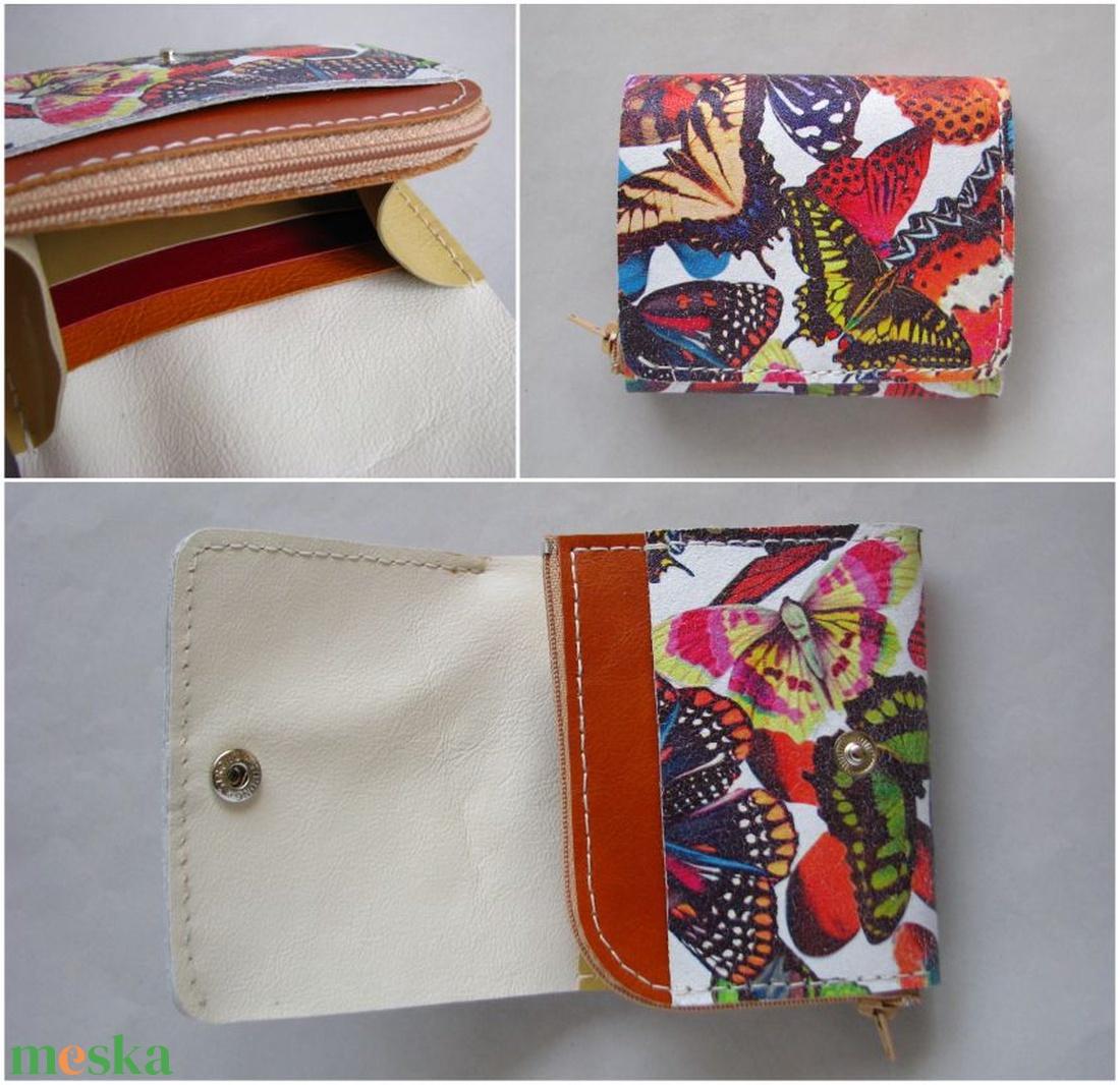 Egyedi pillangó mintás bőr pénztárca 69a2b11b73