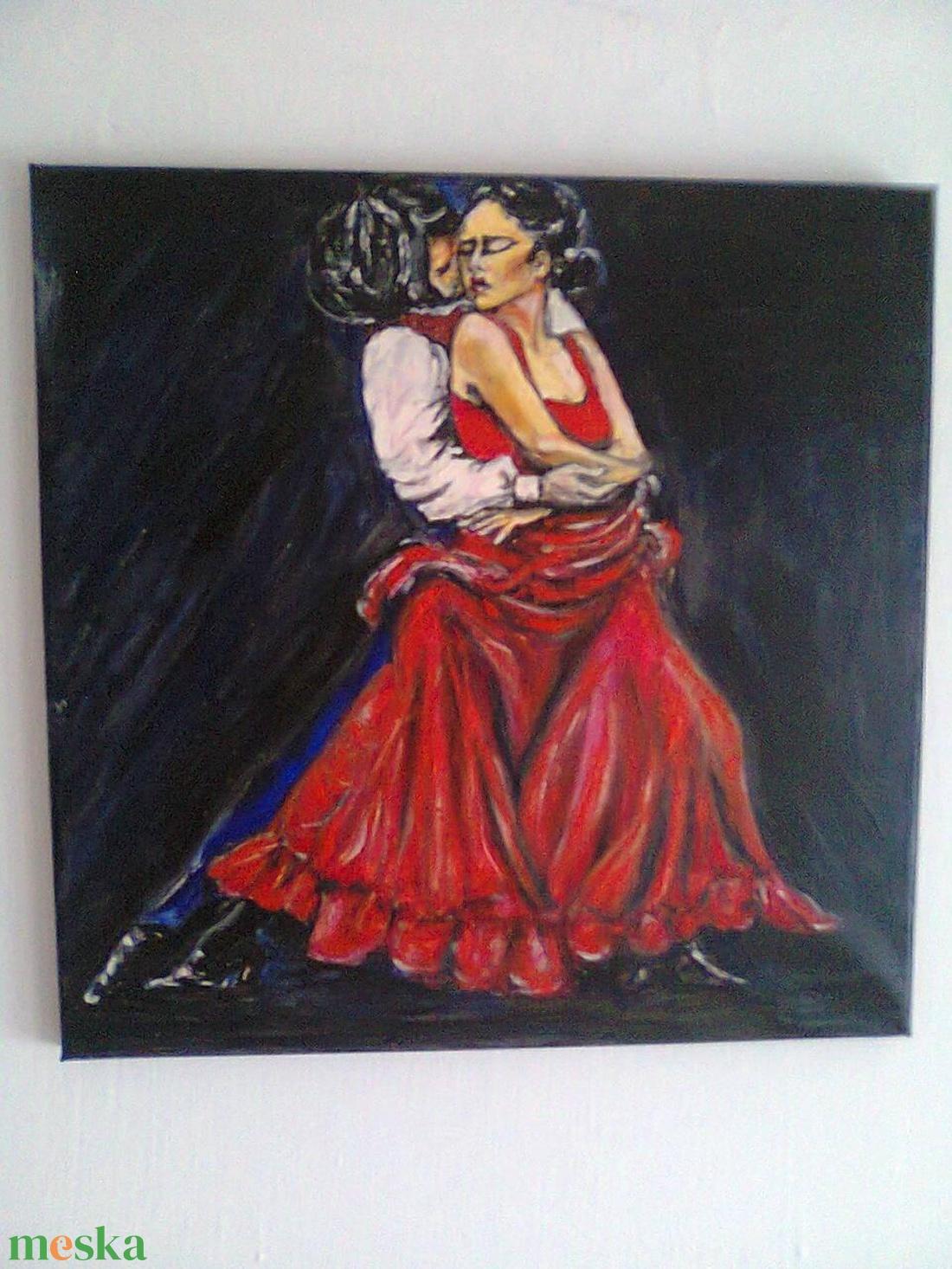 Flamenco  - művészet - festmény - olajfestmény - Meska.hu