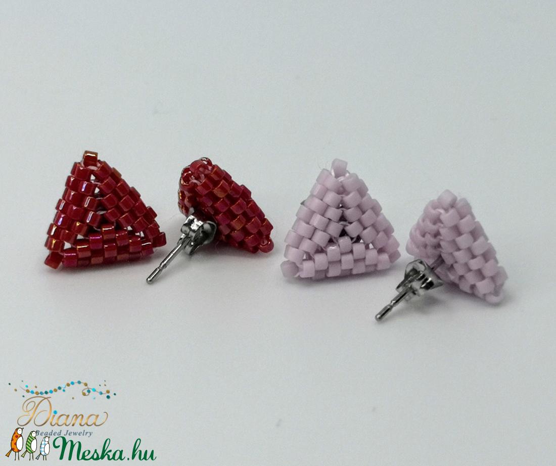 Ear candy fülbevaló szett - Bordó és halvány rózsaszín - ékszer - fülbevaló - pötty fülbevaló - Meska.hu