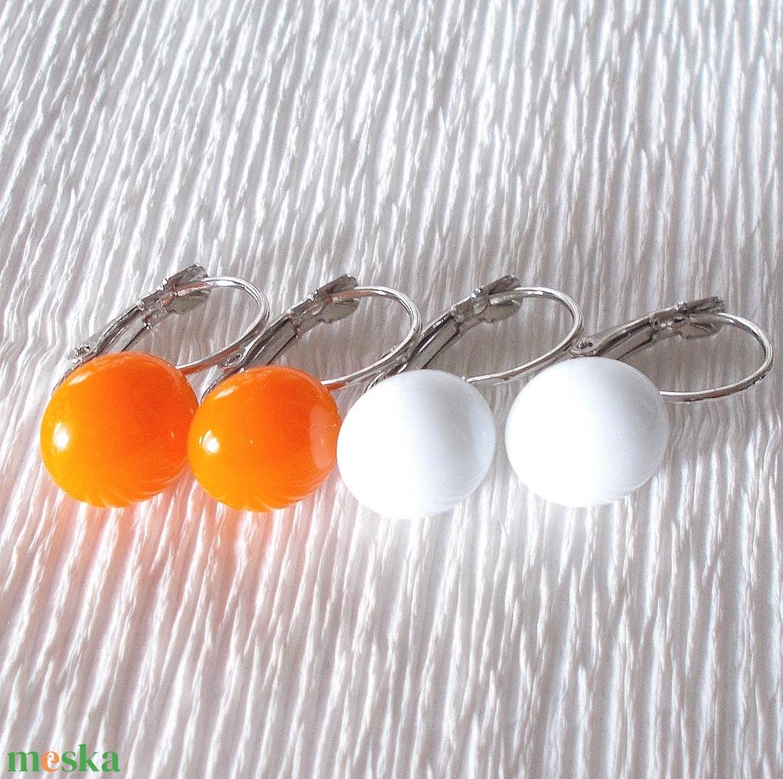 AKCIÓ! Színes fülbevalók, ajándék nőknek névnapra, születésnapra.  - ékszer - fülbevaló - lógó csepp fülbevaló - Meska.hu