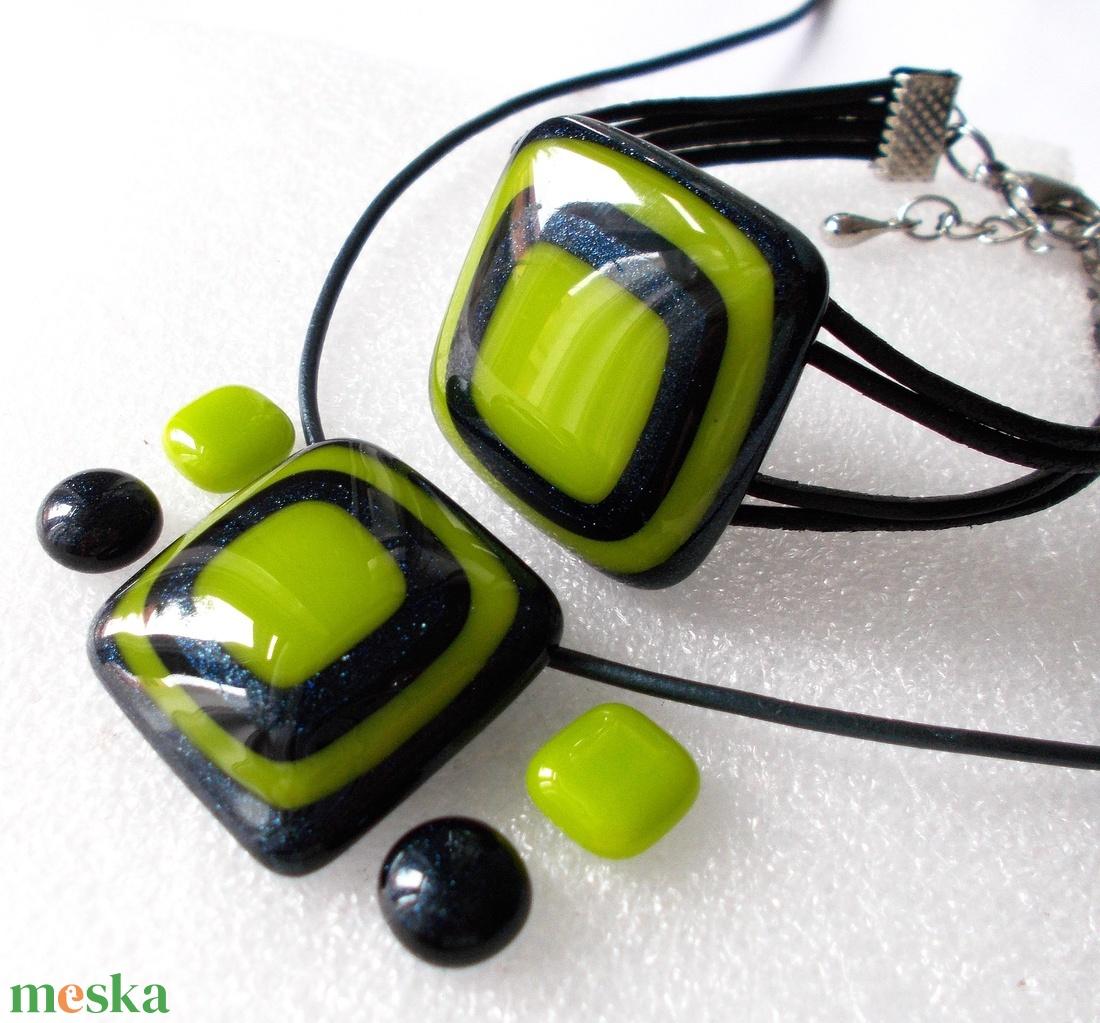 NEMESACÉL!  Zöld a zöldben ékszerszett, ajándék névnapra, születésnapra. - ékszer - ékszerszett - Meska.hu