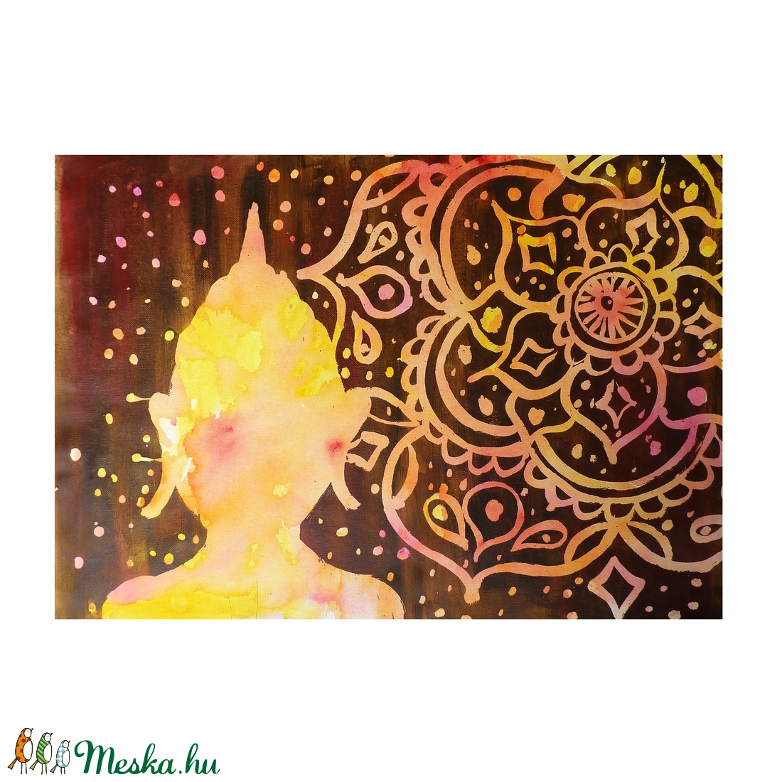 Buddha sziluett akril festmény (DorczyArt) - Meska.hu