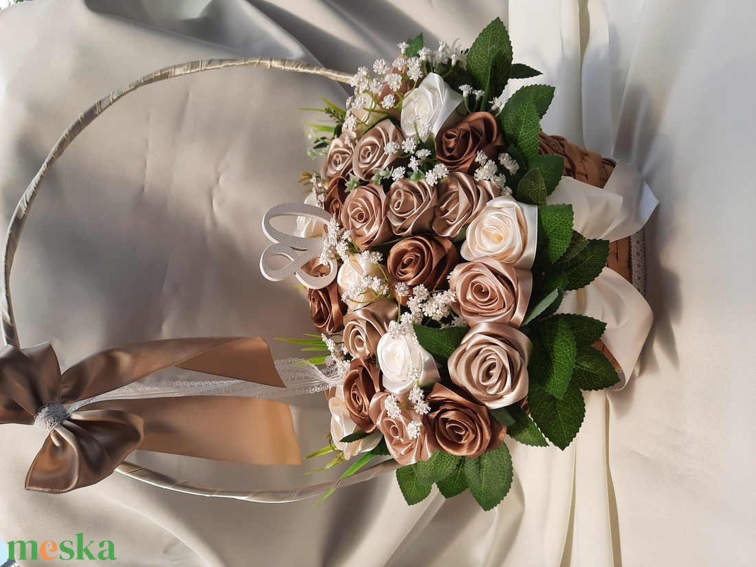 Virágkosár 80.születésnapra  - otthon & lakás - dekoráció - asztaldísz - Meska.hu