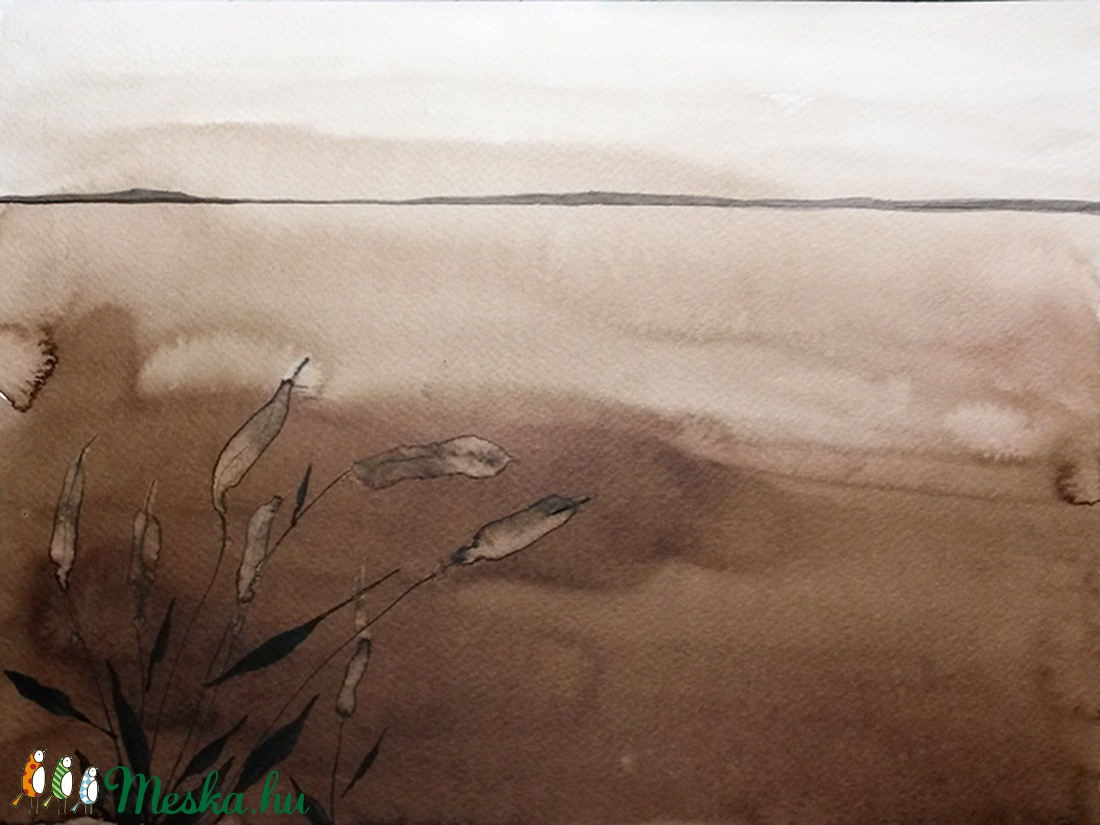 Magaspart - festményemről készült giclée művészi nyomat (eagreta) - Meska.hu