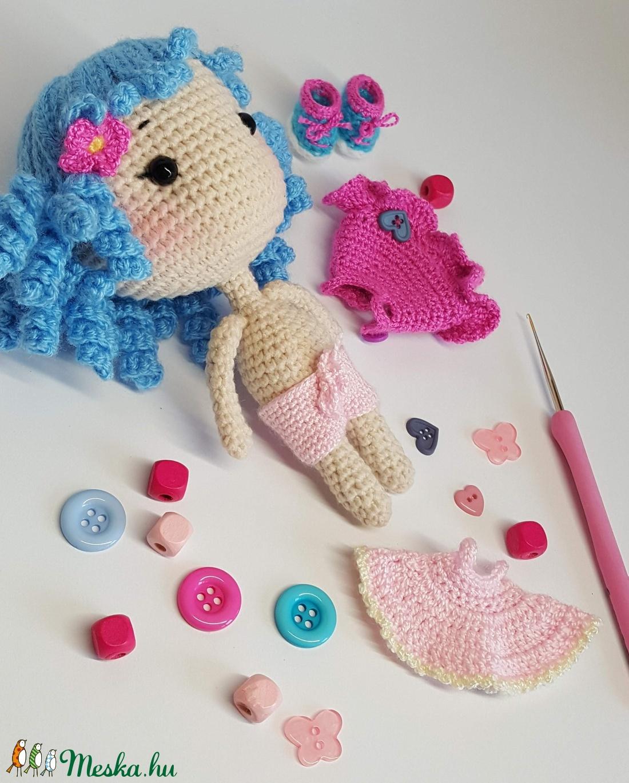 Mimi amigurumi baba - játék & gyerek - baba & babaház - öltöztethető baba - Meska.hu