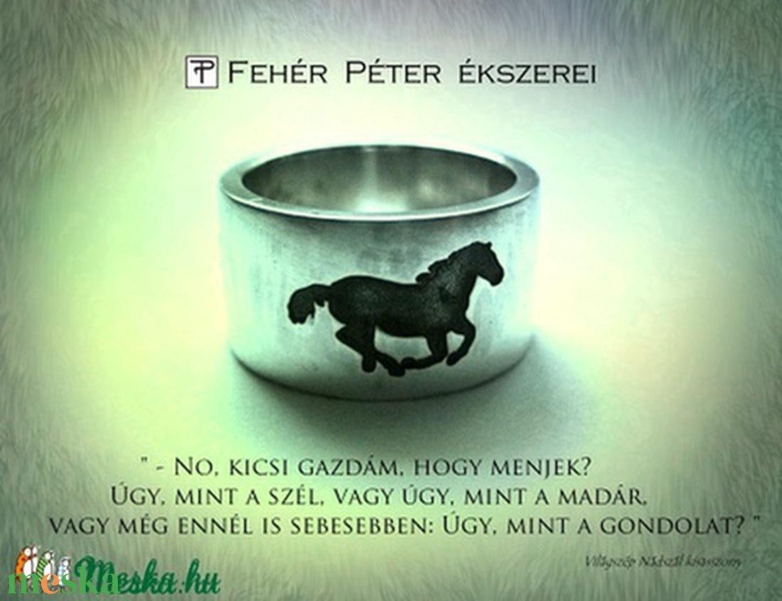 Lovas gyűrű egyedi felirattal (egszeresz) - Meska.hu
